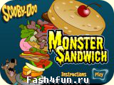 Flash РёРіСЂР° Scooby Doo Monster Sandwich