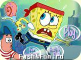 Flash игра Приключения Губки Боба