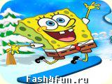 Flash игра Спанч Боб и Сноуборд